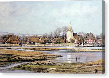 Bosham Harbour Canvas Print by Rosemary Colyer