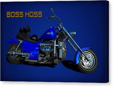 Boss Hoss Chevy V8 Motorcycle Canvas Print by Tim McCullough