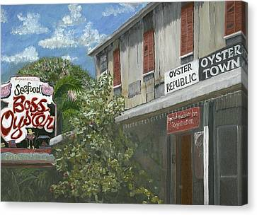 Boss Oyster Canvas Print by Susan Richardson