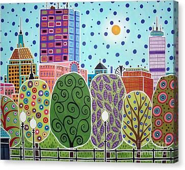 Boston Canvas Print - Boston Abstract by Karla Gerard
