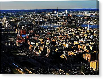 Boston Afternoon Canvas Print by Benjamin Yeager