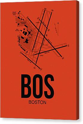 Boston Airport Poster 2 Canvas Print by Naxart Studio