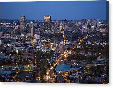 Boston At Night From The Sw. Canvas Print