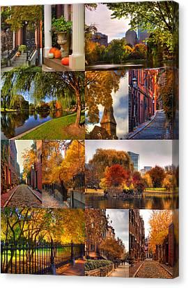 Boston Autumn Days Canvas Print by Joann Vitali
