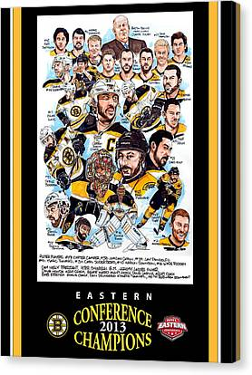 Boston Bruins Canvas Print by Dave Olsen
