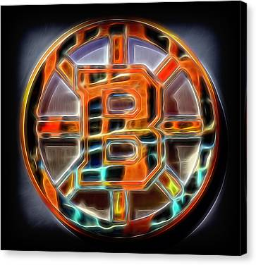 Boston Bruins Logo Canvas Print by Stephen Stookey