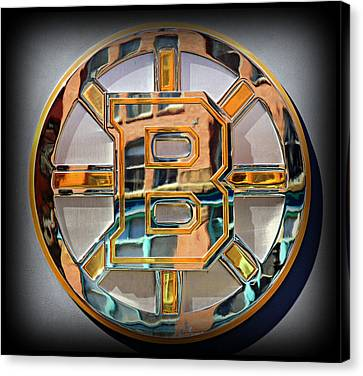 Boston Bruins Canvas Print by Stephen Stookey