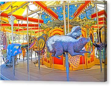 Boston Carousel II Canvas Print by Betsy Knapp
