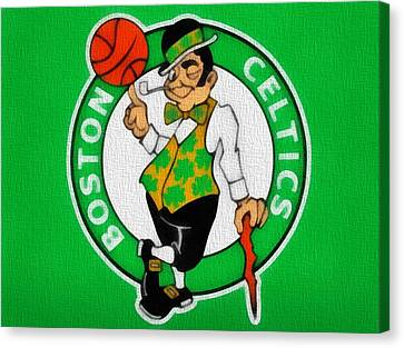 Boston Celtics Canvas Canvas Print by Dan Sproul