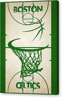 Boston Celtics Court Canvas Print by Joe Hamilton