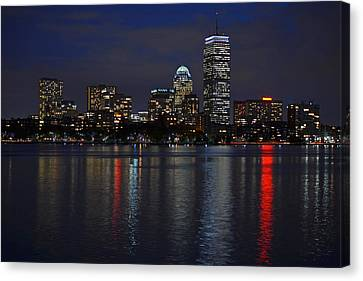 Boston Charles River At Night Canvas Print by Toby McGuire