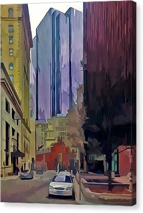 Boston City Centre 2 Canvas Print by Yury Malkov