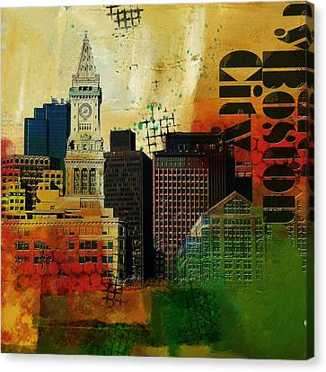 Boston City Collage 2 Canvas Print