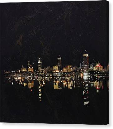 Boston City Skyline 2 Canvas Print
