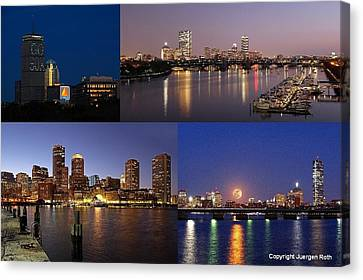 Boston City Skyline Canvas Print by Juergen Roth
