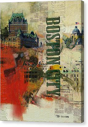 Boston Collage Canvas Print by Corporate Art Task Force