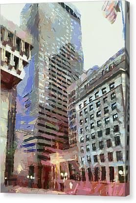 Boston Downtown 1 Canvas Print by Yury Malkov