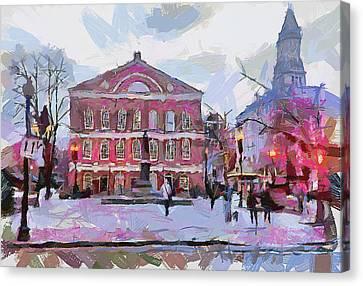 Boston Downtown 11 Canvas Print by Yury Malkov