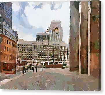 Boston Downtown 12 Canvas Print by Yury Malkov