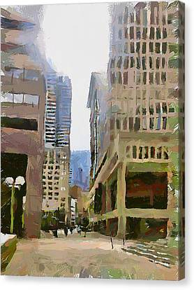 Boston Downtown 13 Canvas Print by Yury Malkov