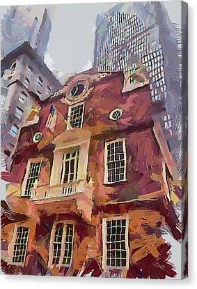 Boston Downtown 15 Canvas Print by Yury Malkov