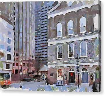 Boston Downtown 16 Canvas Print by Yury Malkov
