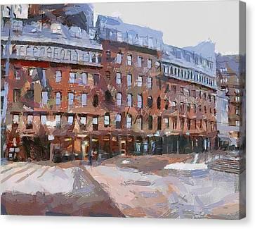 Boston Downtown 2 Canvas Print by Yury Malkov