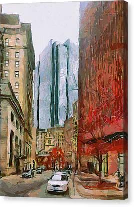 Boston Downtown 3 Canvas Print by Yury Malkov