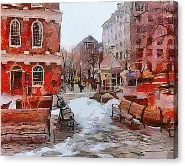 Boston Downtown 4 Canvas Print by Yury Malkov