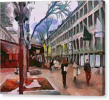 Boston Downtown 5 Canvas Print by Yury Malkov