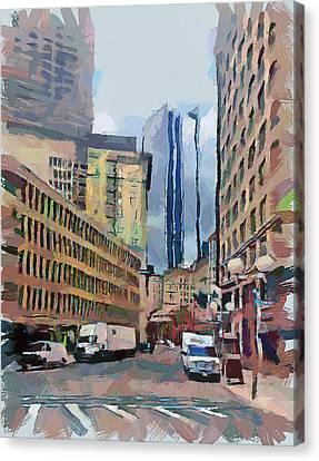 Boston Downtown 7 Canvas Print by Yury Malkov