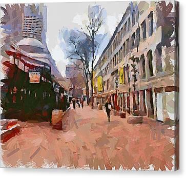 Boston Downtown 8 Canvas Print by Yury Malkov