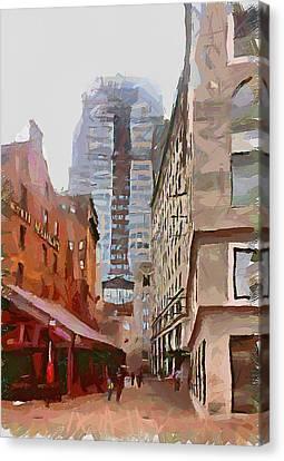 Boston Downtown 9 Canvas Print by Yury Malkov
