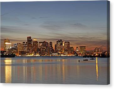 Boston Downtown Canvas Print by Juergen Roth