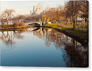 Canvas Print - Boston Esplanade by Lee Costa