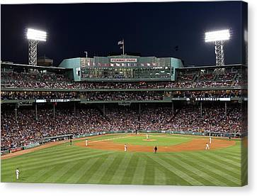 Boston Fenway Park Baseball Canvas Print by Juergen Roth