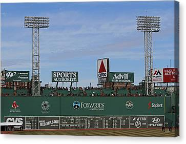 Boston Fenway Park Green Monster Canvas Print by Juergen Roth