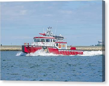 Boston Fire Marine 1 Canvas Print by Brian MacLean
