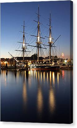 Boston Fireworks Canvas Print by Juergen Roth