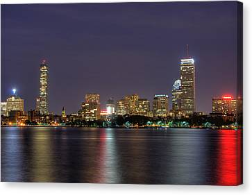 Boston From Memorial Drive Canvas Print by Joann Vitali