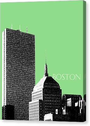 Boston Hancock Tower - Sage Canvas Print by DB Artist