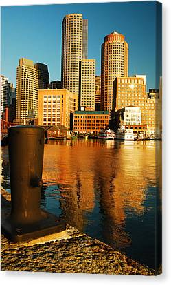 Boston Harbor Canvas Print by James Kirkikis