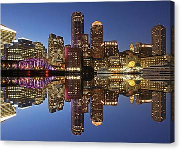 Boston Harbor Canvas Print by Juergen Roth