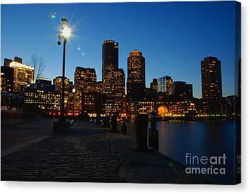 Boston Harbour Canvas Print