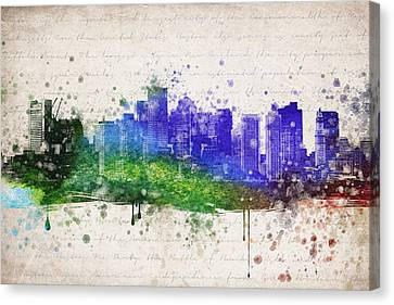 Boston In Color Canvas Print by Aged Pixel