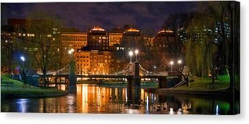 Boston Lagoon Bridge 2 Canvas Print by Joann Vitali