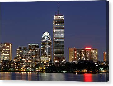 Boston Landmarks And Sheraton Hotel Canvas Print by Juergen Roth