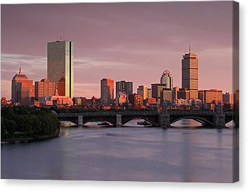 Charles River Canvas Print - Boston Last Light by Juergen Roth