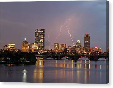 Boston Lightning Thunderstorm Canvas Print by Juergen Roth