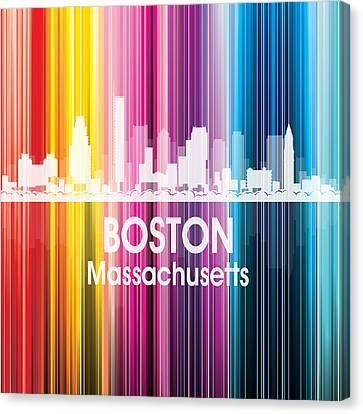 Boston Ma 2 Squared Canvas Print